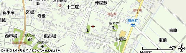 愛知県西尾市徳永町(西側)周辺の地図