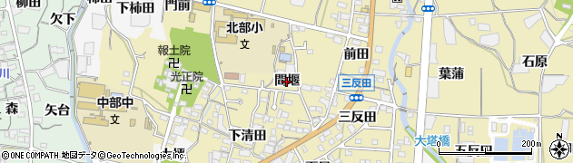 愛知県蒲郡市清田町(間堰)周辺の地図