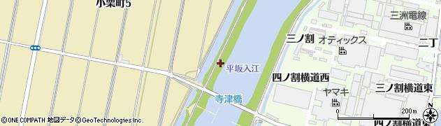 愛知県西尾市小栗町(新切稲荷前)周辺の地図