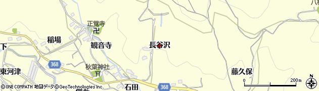 愛知県豊川市御津町金野(長谷沢)周辺の地図