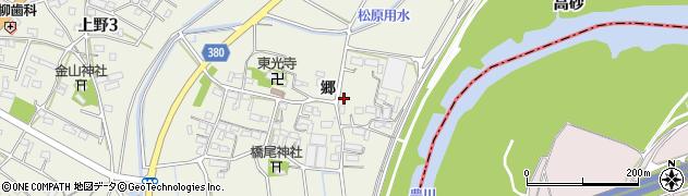 愛知県豊川市橋尾町(郷)周辺の地図