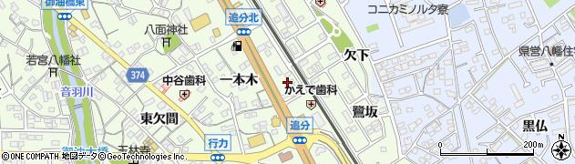 愛知県豊川市御油町(万福寺)周辺の地図