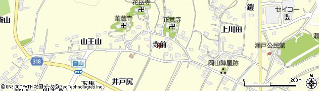 愛知県西尾市吉良町岡山(寺前)周辺の地図