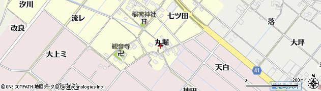 愛知県西尾市長縄町(丸堀)周辺の地図