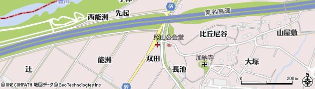 愛知県豊橋市賀茂町(双田)周辺の地図