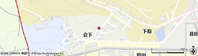 愛知県武豊町(知多郡)会下周辺の地図