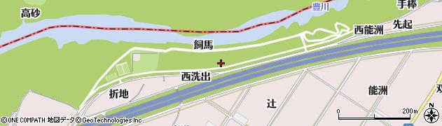 愛知県豊橋市賀茂町(西洗出)周辺の地図