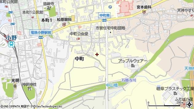 〒675-1332 兵庫県小野市中町の地図