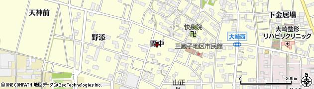 愛知県豊川市大崎町(野中)周辺の地図