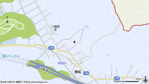 〒675-0302 兵庫県加古川市志方町野尻の地図