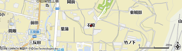 愛知県蒲郡市清田町(石原)周辺の地図