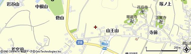 愛知県西尾市吉良町岡山周辺の地図