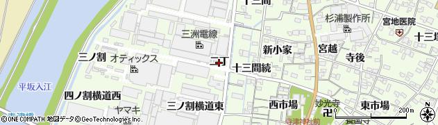 愛知県西尾市寺津町(二丁)周辺の地図