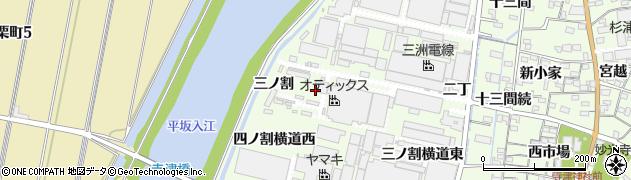 愛知県西尾市寺津町(三ノ割)周辺の地図