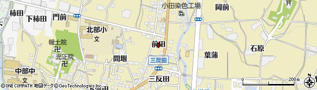 愛知県蒲郡市清田町(前田)周辺の地図