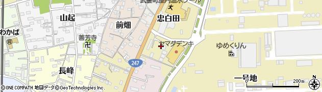 愛知県武豊町(知多郡)忠白田周辺の地図