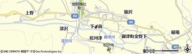 愛知県豊川市御津町金野(下ノ前)周辺の地図