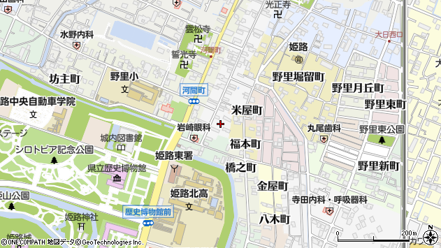〒670-0002 兵庫県姫路市鍛冶町の地図