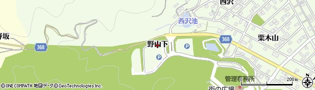 愛知県豊川市御油町(野山下)周辺の地図