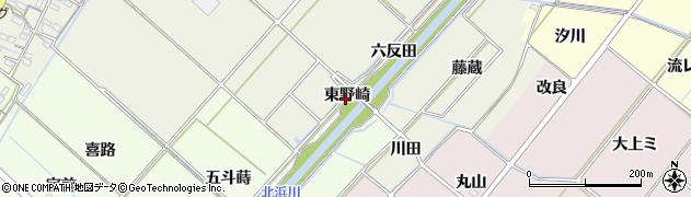 愛知県西尾市下矢田町(東野崎)周辺の地図