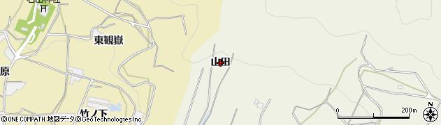愛知県蒲郡市五井町(山田)周辺の地図