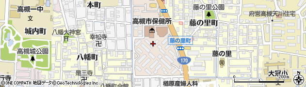 大阪府高槻市城東町周辺の地図