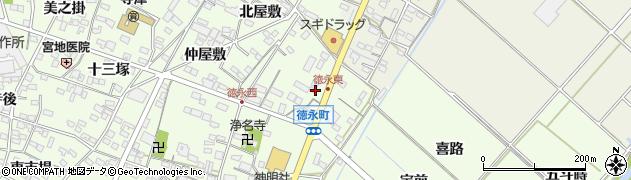 愛知県西尾市徳永町(稲場)周辺の地図