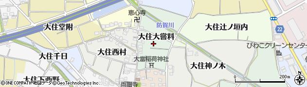 京都府京田辺市大住大嘗料周辺の地図