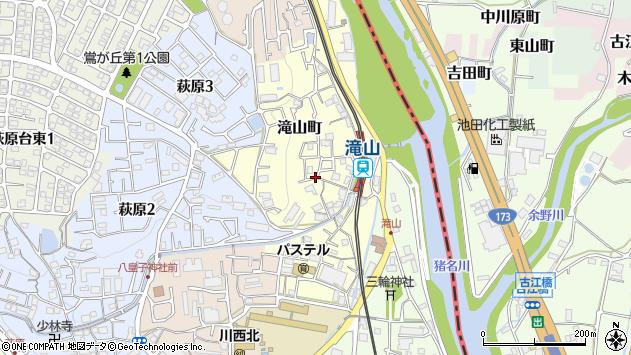 〒666-0002 兵庫県川西市滝山町の地図