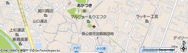 兵庫県姫路市花田町(小川)周辺の地図