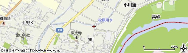 愛知県豊川市橋尾町(大通)周辺の地図