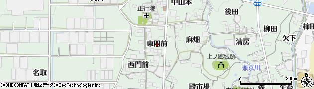 愛知県蒲郡市神ノ郷町(東門前)周辺の地図