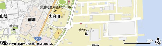 愛知県武豊町(知多郡)一号地周辺の地図
