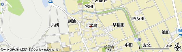愛知県豊川市市田町(上之島)周辺の地図