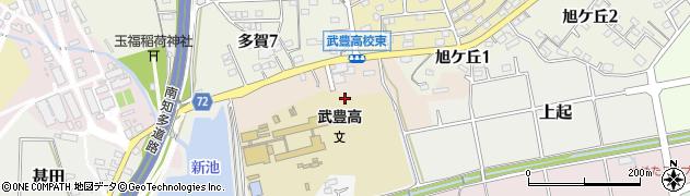 愛知県武豊町(知多郡)ヲヲガケ周辺の地図