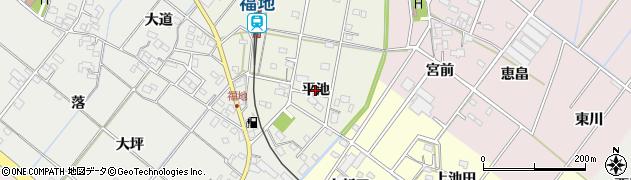愛知県西尾市川口町(平池)周辺の地図