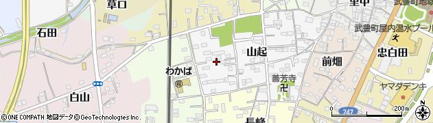 愛知県武豊町(知多郡)山起周辺の地図