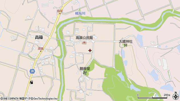 〒673-0721 兵庫県三木市細川町高篠の地図