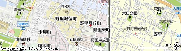 兵庫県姫路市野里月丘町周辺の地図