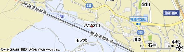 愛知県蒲郡市竹谷町(八ツケ口)周辺の地図