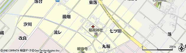 愛知県西尾市長縄町(鍵島)周辺の地図