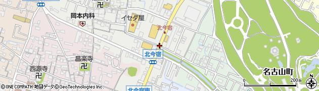 名古山西周辺の地図