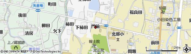 愛知県蒲郡市清田町(門前)周辺の地図