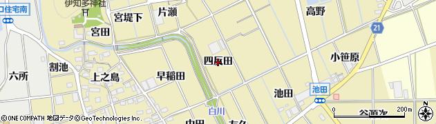 愛知県豊川市市田町(四反田)周辺の地図