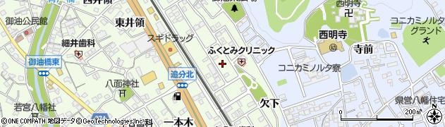 愛知県豊川市御油町(小山)周辺の地図
