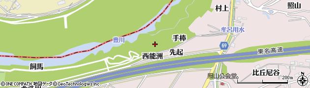 愛知県豊橋市賀茂町(手棒)周辺の地図