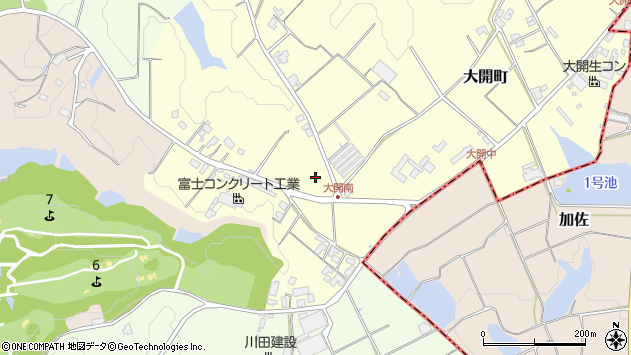 〒675-1313 兵庫県小野市大開町の地図