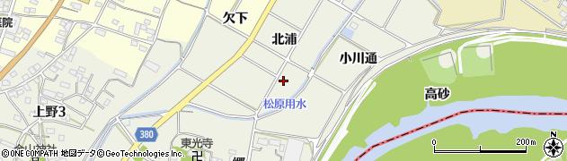 愛知県豊川市橋尾町(北浦)周辺の地図