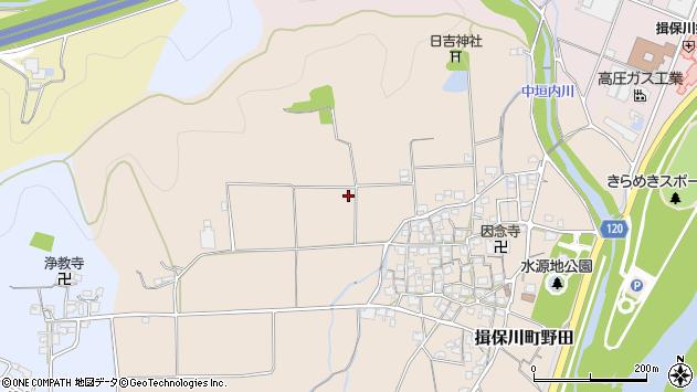 〒671-1602 兵庫県たつの市揖保川町野田の地図