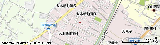 愛知県豊川市大木町(新町通)周辺の地図